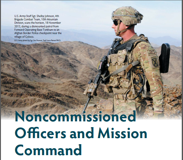 NCOs and Mission Command