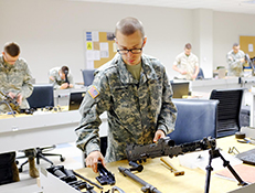 Soldiers and Marines train in small arms, artillery repair at Fort Lee